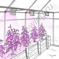 """Мультиспектровый прожектор для растений """"Нихал"""""""