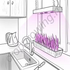 """Диодный светильник для теплиц и домашних хозяйств """"Процион"""" мощностью 60-180 Вт"""