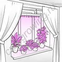 """Биколорная фитолампа-светильник для растений """"Регул"""" 50-200Вт"""